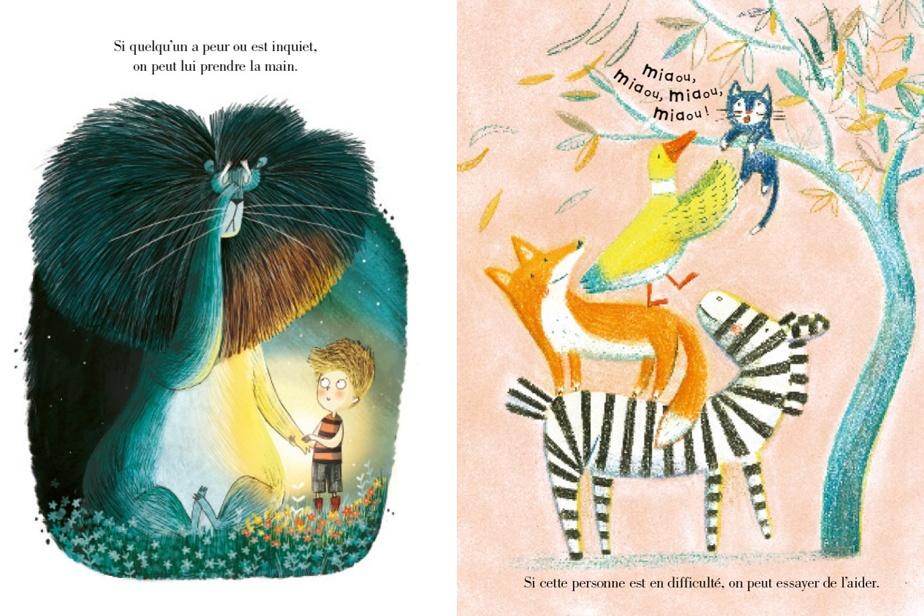 Extrait d'Ensemble–Un livre sur la bienveillance, texte d'Alison Green, préface d'Axel Scheffler, illustrations de Pippa Curnick, éditions Gründ