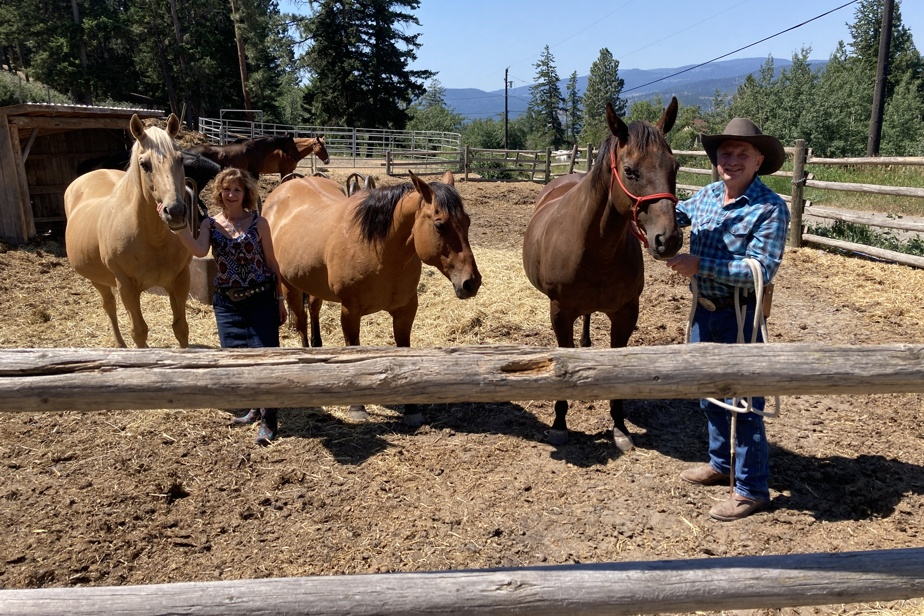 Greg Alexander, propriétaire de ranch à la retraite, possède quelques chevaux avec sa conjointe, Carole Leroux, dans les hauteurs de Merritt.