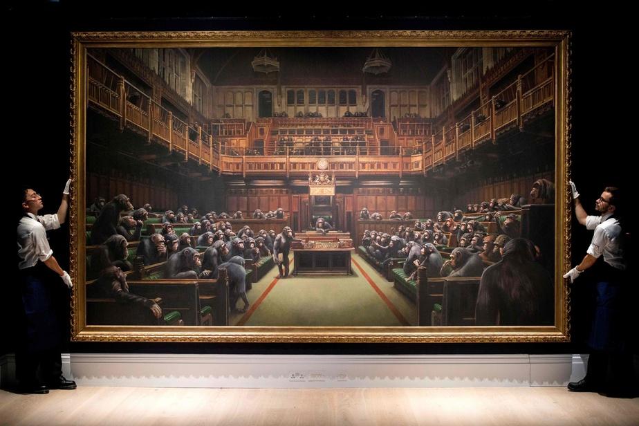 Grande-Bretagne: Une oeuvre de Banksy adjugée 12 millions