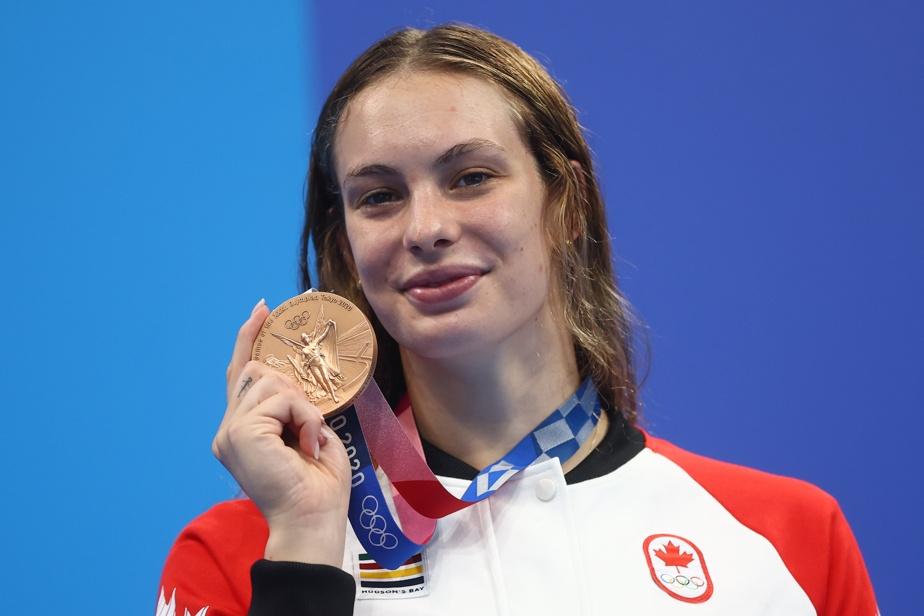 Médaille de bronze au 200m libre Oleskiak devient la Canadienne la plus décorée aux Jeux olympiques d'été)