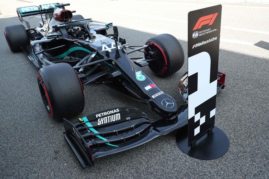 Hamilton remporte le GP d'Espagne tchèque Perez est cinquième