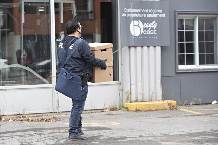 Enquête sur le blanchiment d'argent La police mène une perquisition dans un salon d'esthétique d'Hochelaga)