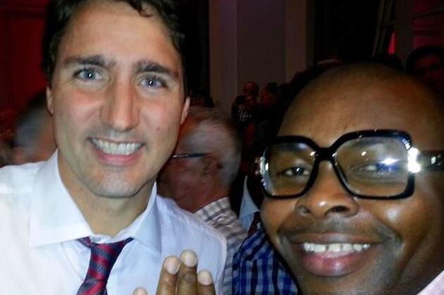 Ekens Azubuike et le premier ministre du Canada, Justin Trudeau
