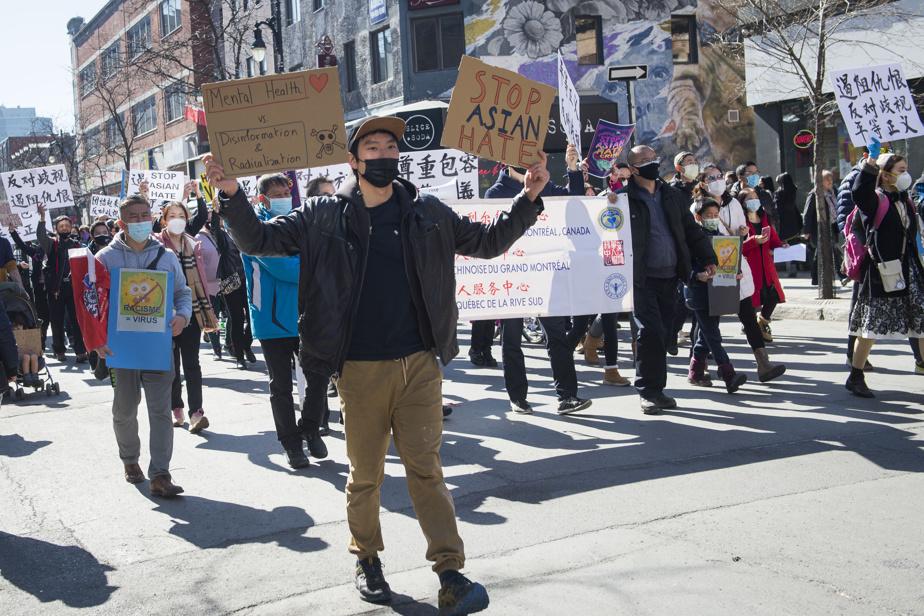 Ras-le-bol du racisme antiasiatique Le week-end dernier, ils étaient des centaines à manifester leur ras-le-bol à Montréal et ailleurs au pays. Une nouveauté, ce racisme antiasiatique? Pas du tout. L'histoire canadienne est parsemée de chapitres sombres à ce sujet. Sur la photo: manifestation contre le racisme antiasiatique à Montréal.