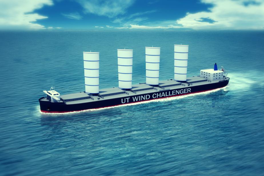 Le projet japonais de cargo transocéanique Wind Challenger aurait des voiles rigides.