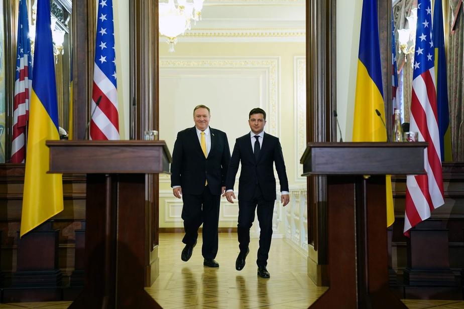 Pompeo en Ukraine avec l'