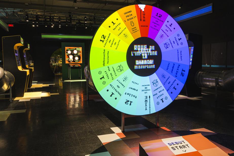 Roue de l'infortune et machines d'arcade marient jeu et sensibilisation.