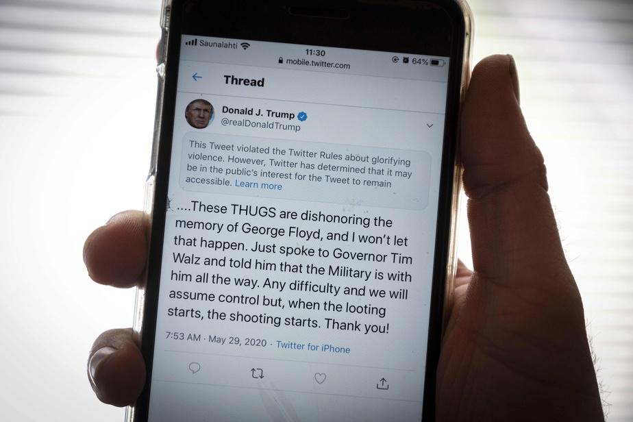 Donald Trump, premier résultat en cherchant «racist» sur Twitter