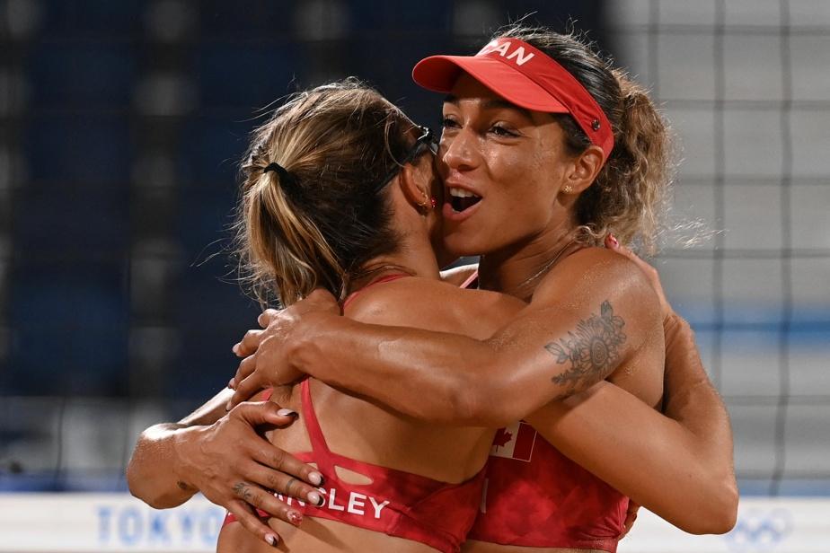 HEATHER BANSLEY ET BRANDIE WILKERSON Volleyball de plage 22h — Après avoir subi une défaite à leur premier match, les Canadiennes Heather Bansley (à gauche) et Brandie Wilkerson tenteront d'enregistrer un premier gain face aux Argentines Ana Gallay et Fernanda Pereyra.