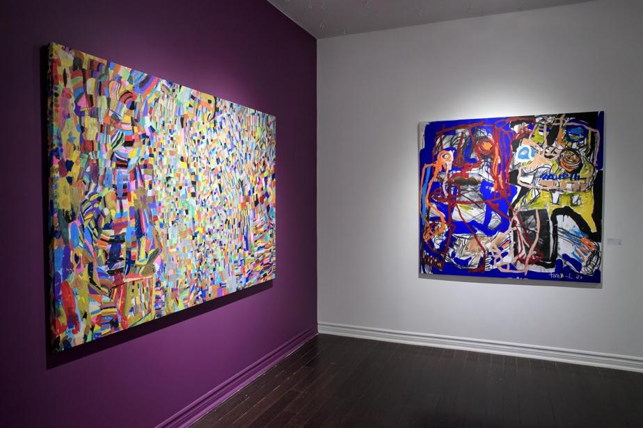 Une œuvre de Lynda Mullan, à gauche, et une de Thomas Labarthe, à droite