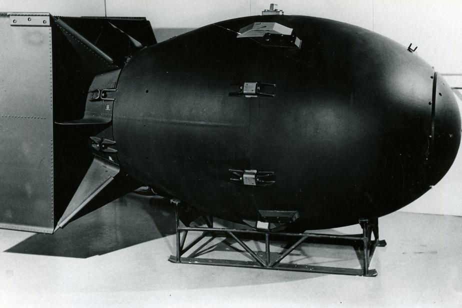 Bombe atomique de type «Fat Man», comme celle larguée sur Nagasaki, le 9août1945