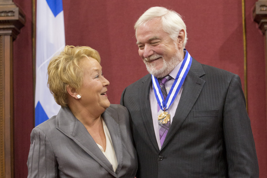 Michel Dumont et Pauline Marois lors de la remise de l'Ordre national du Québec
