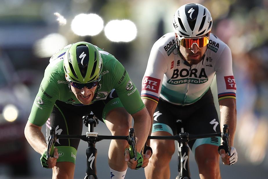 La lutte pour le maillot vert – meilleur au classement par points– est toujours vive entre Sam Bennett, l'actuel détenteur, et Peter Sagan, sept fois vainqueur au cours des dernières années. Le Slovaque a toutefois dû se résigner à gruger quelques points au champion d'Irlande, vendredi.