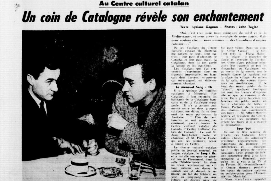 En 1961, Joan Roig fonde avec d'autres expatriés le Centre culturel catalan, voué à la promotion de la culture catalane au Québec. Le voici photographié pour un article de Lysiane Gagnon, dans Le Petit Journal.