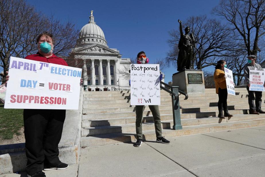 Primaire démocrate: le Wisconsin vote en pleine pandémie