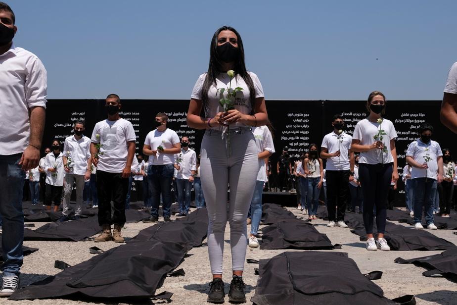 Liban Rassemblements à Beyrouth pour le premieranniversaire de l'explosion au port)