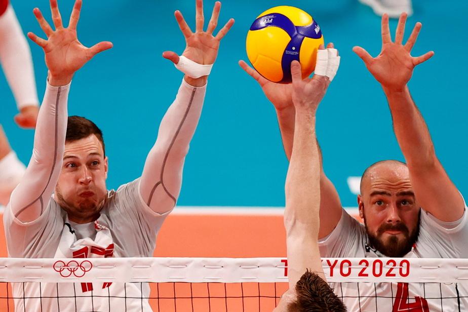 ÉQUIPE CANADIENNE Volleyball 6h40 — Après une défaite en lever de rideau face à l'Italie, l'équipe canadienne masculine aura la chance de rebondir alors qu'elle affronte aujourd'hui, pour son deuxième match du tournoi, l'équipe hôte des Jeux, le Japon.