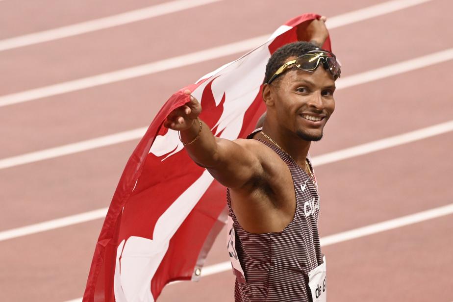 Andre De Grasse Athlétisme 22h05 – Fort de sa médaille de bronze acquise au 100m, Andre De Grasse se présente au 200m en pleine confiance. Ça commence en soirée avec les qualifications.