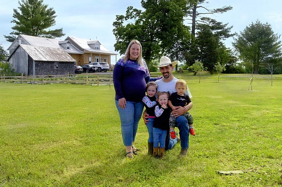 Jennifer, Ludovic et leurs enfants