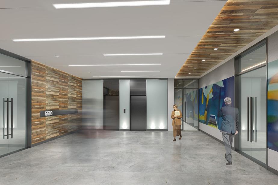 Les travaux visent à refaire une beauté aux espaces communs comme le hall d'entrée.