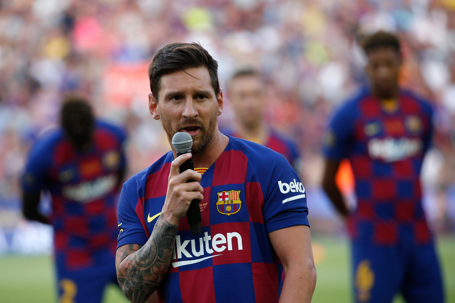 Lionel Messi de retour à l'entrainement collectif — Barça