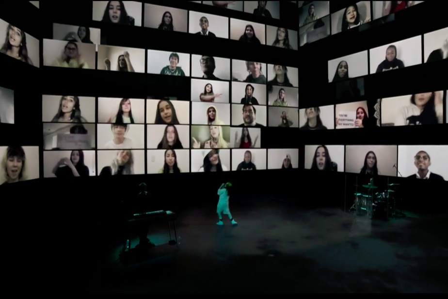 Parmi ceux que Billie Eilish peut remercier pour la réussite du spectacle Where Do We Go? The Livestream: le studio montréalais Moment Factory, qui a participé à l'élaboration visuelle du projet.