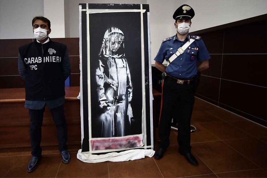 Restitution du Banksy volé à la France — Italie