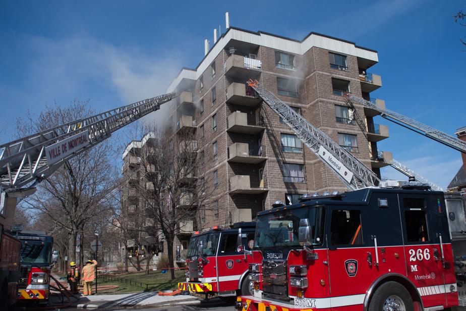 Incendie majeur dans un HLM du Sud-Ouest de Montréal)