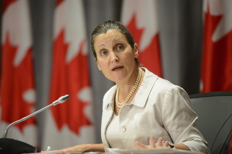 PRESSE CANADIENNE La vice-première ministre canadienne Chrystia Freeland