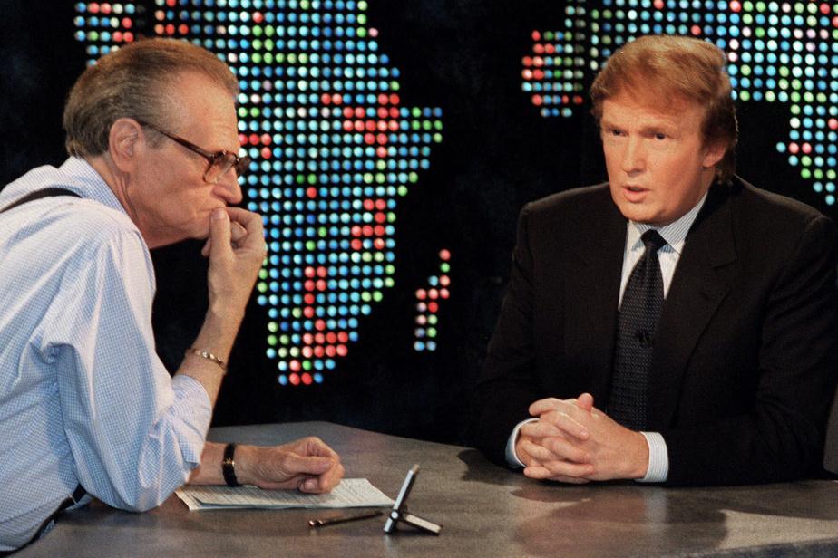 Larry King et Donald Trump en octobre1999