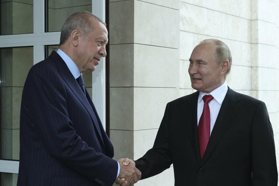 Poutine recommande le vaccin russe Spoutnik V à Erdogan