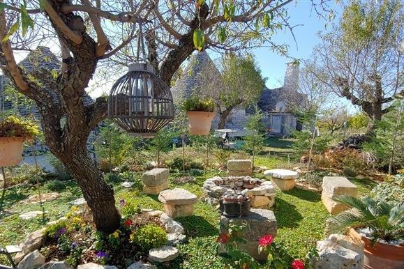 Le vaste jardin parsemé d'une multitude de plantes
