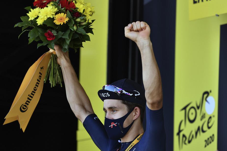 Champion du monde en 2014, Kwiatkowski, âgé de 30ans, a finalement enlevé son premier succès d'étape sur le Tour, qu'il dispute cette année pour la septième fois de sa carrière.