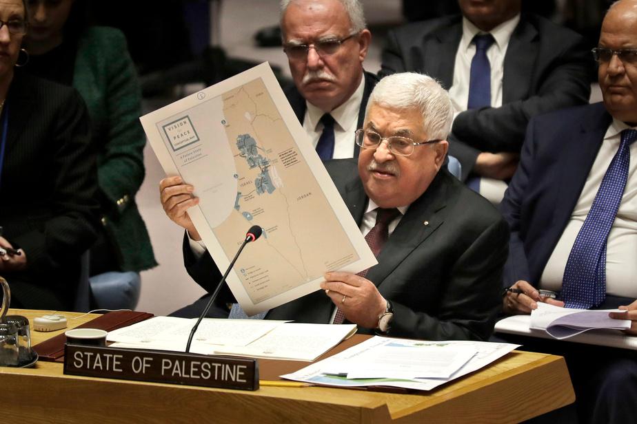 Manifestations pro-Abbas avant son discours à l'ONU — Territoires palestiniens