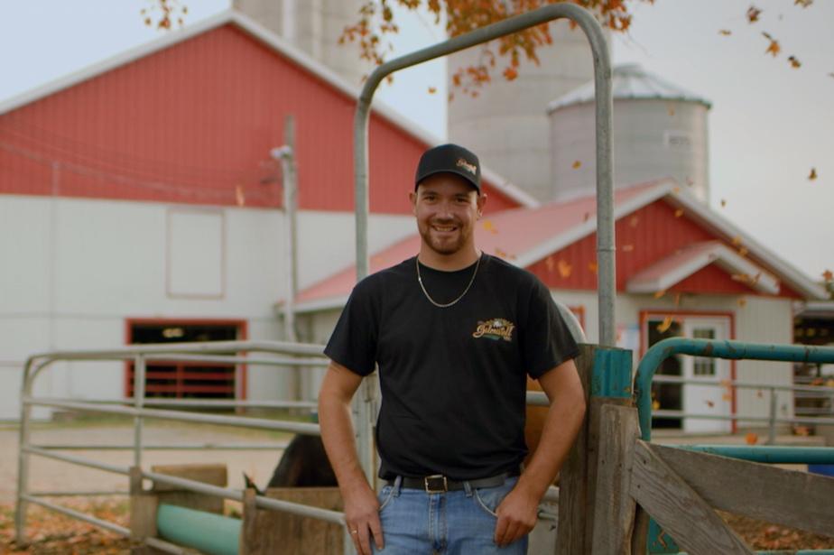 Martin, producteur laitier de 25ans, est celui qui a reçu le plus de lettres de soupirantes.