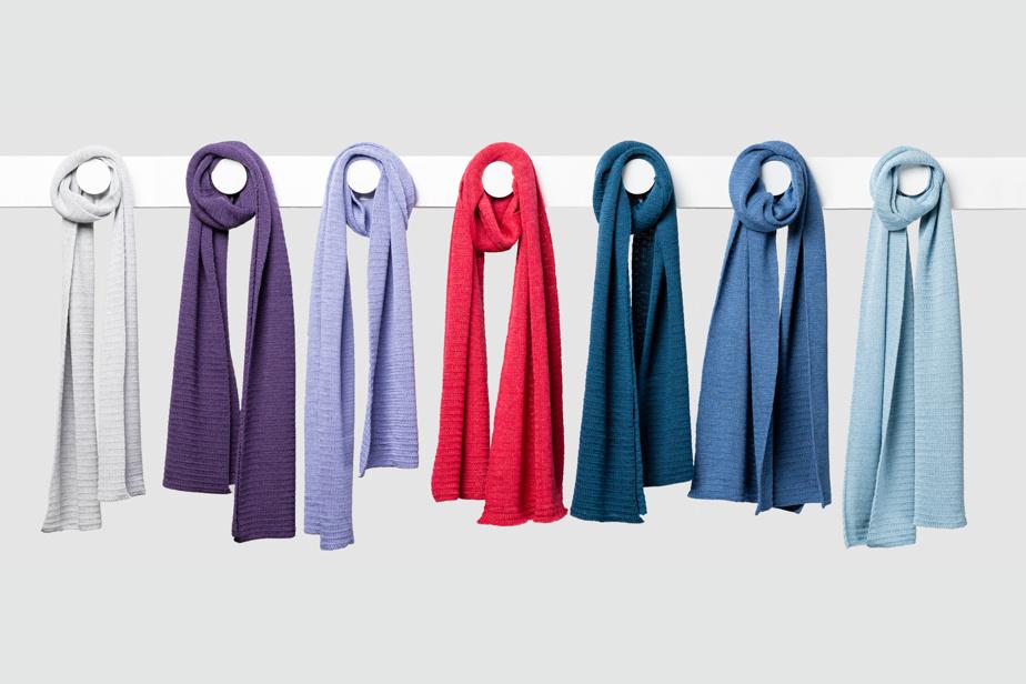L'écharpe Essentielle en laine mérinos extra fine, 145$