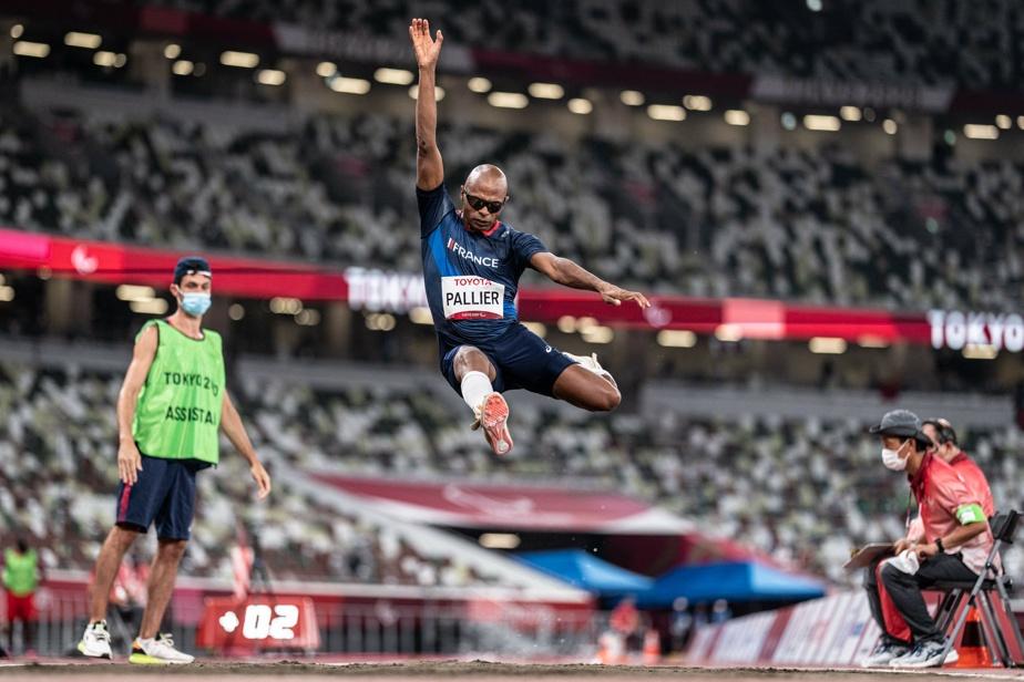 Le Français RonanPallier participait à la finale du saut en longueur.