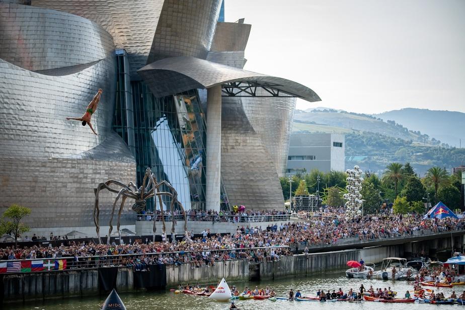 La plongeuse de haut vol Lysanne Richard à Bilbao