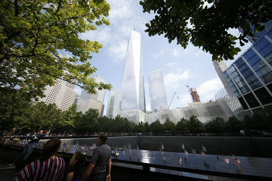 Un des bassins d'eau situé à l'emplacement d'une des tours de l'ancien World Trade Center