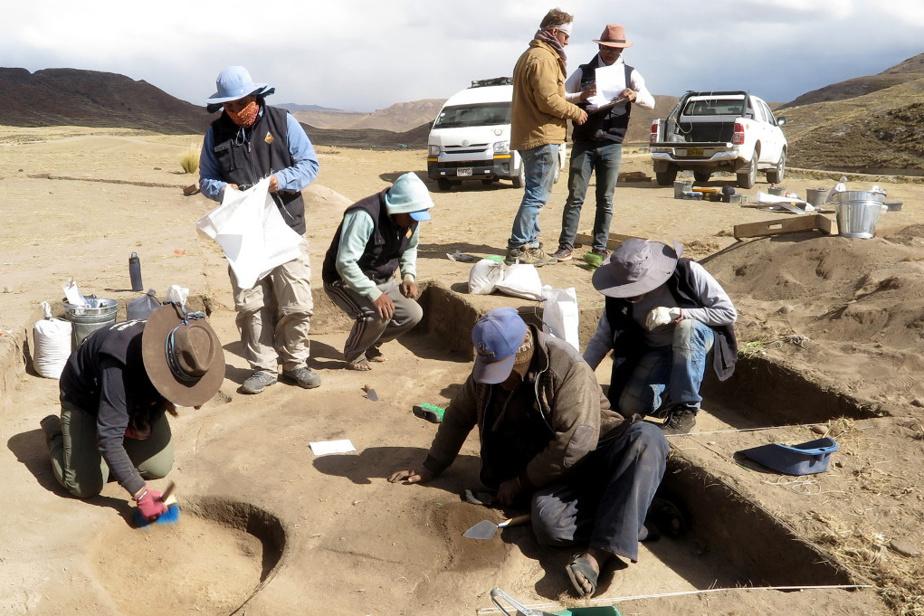 Le site de Vilamaya Patjxa, dans le sud du Pérou, où ont été retrouvées les cinq sépultures.