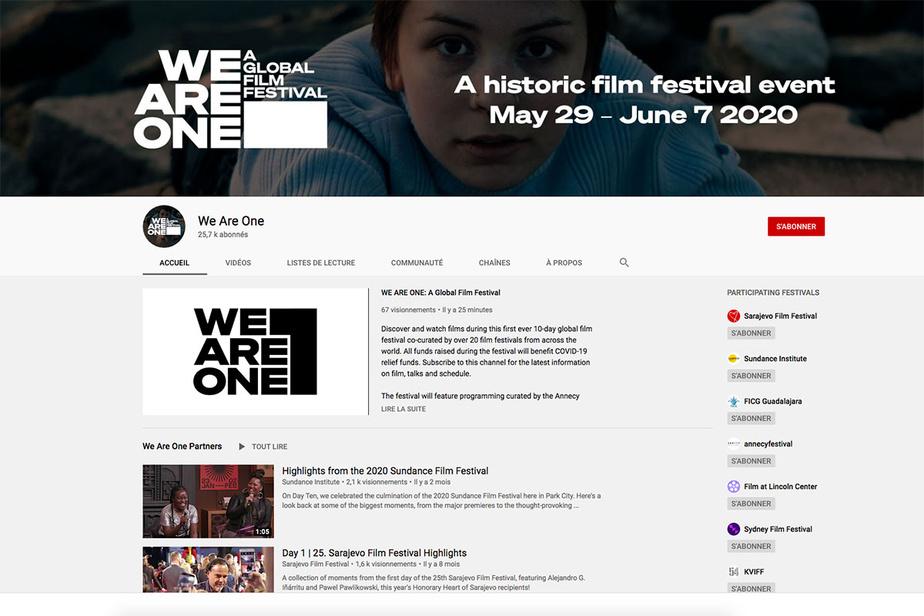 Vingt festivals majeurs, dont Cannes et Annecy, s'unissent pour lancer un événement en ligne