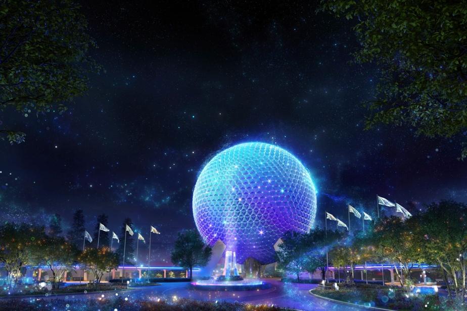 La célèbre sphère Spaceship Earth, symbole du parc Epcot