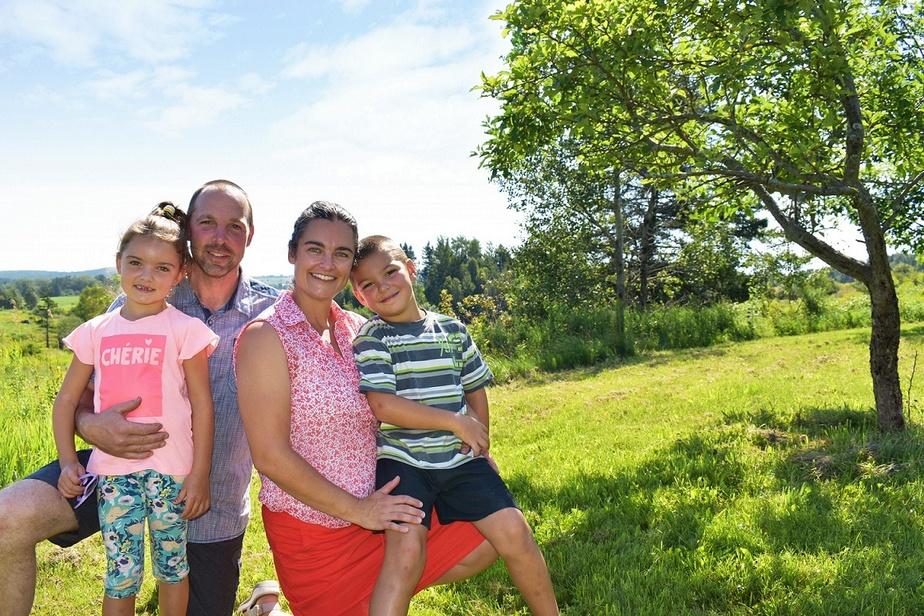 Simon, Cynthia et leurs enfants