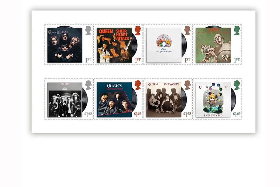 Les timbres à l'effigie de Queen sont là