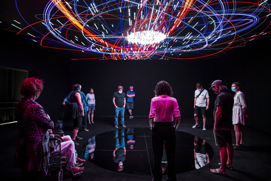 """Photo taken at the opening of the virtual reality exhibition """"L'infini"""" at the Arsenal"""