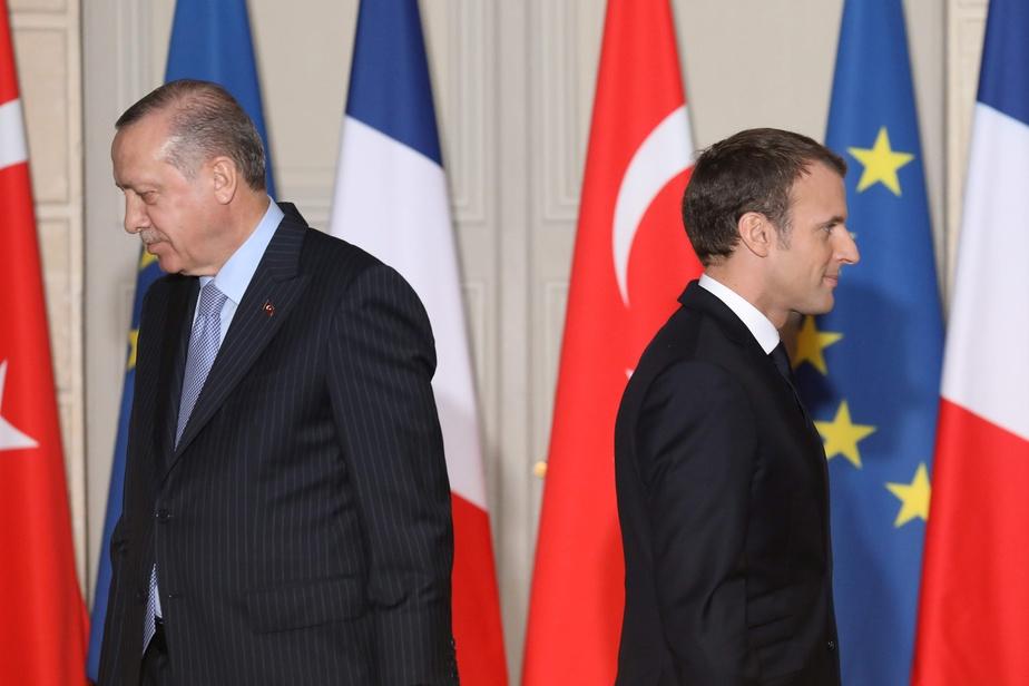 Le président turc Recep Tayyip Erdogan et son homologue français Emmanuel Macron