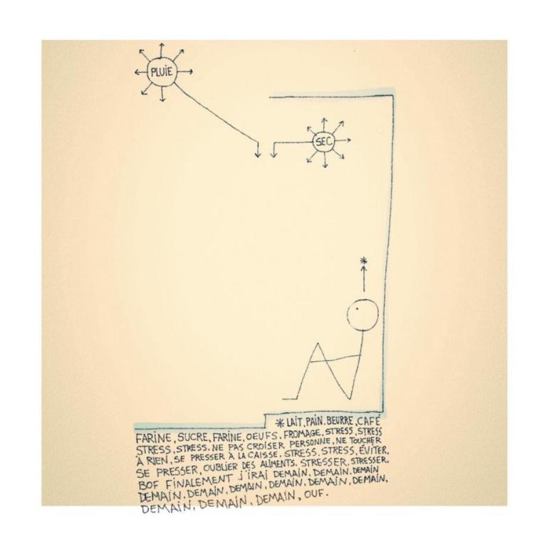 Un des dessins de Daniel Bélanger