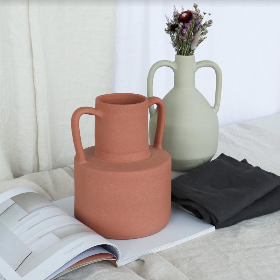 Les vases Harlow et Paloma (85$ chacun)