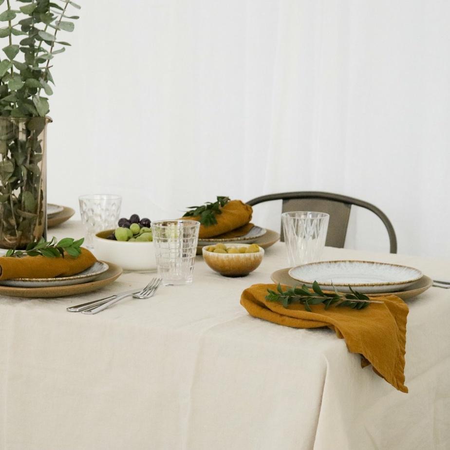 Linge de table en coton et lin, de Maison Tess