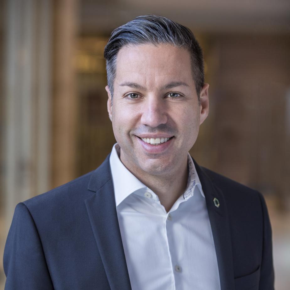Alexandre Maillhot, vice-président finances, services bancaires et performance financière au Mouvement Desjardins, était finaliste dans la catégorie «dirigeante financière ou dirigeant financier de la relève».